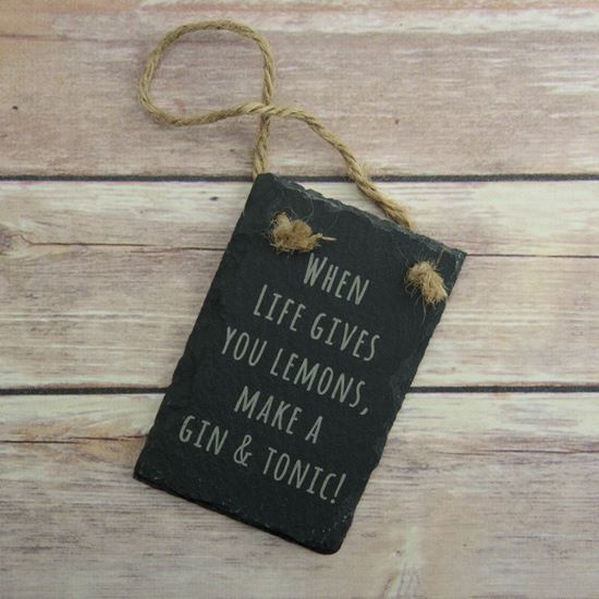 Gin And Tonic Plaque