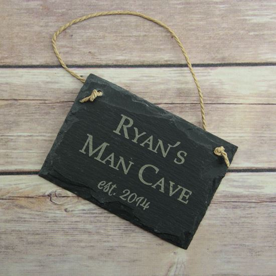 Man Cave Slate Sign