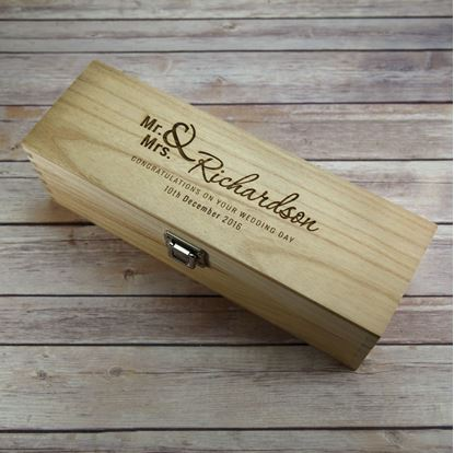 Picture of Wedding Day Wooden Wine Box