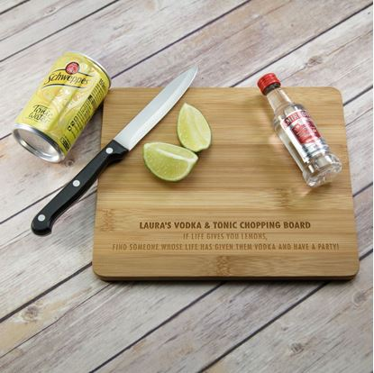Picture of Personalised Vodka Tonic Chopping Board