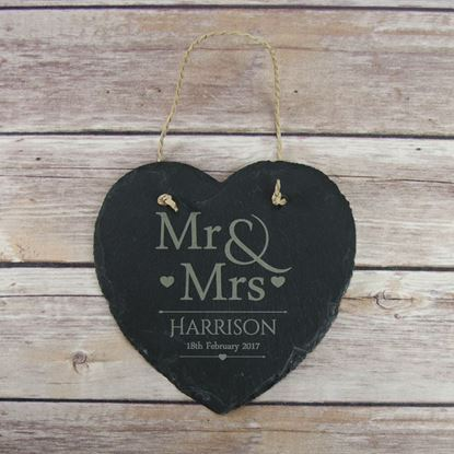 Picture of Mr & Mrs Hanging Slate Sign