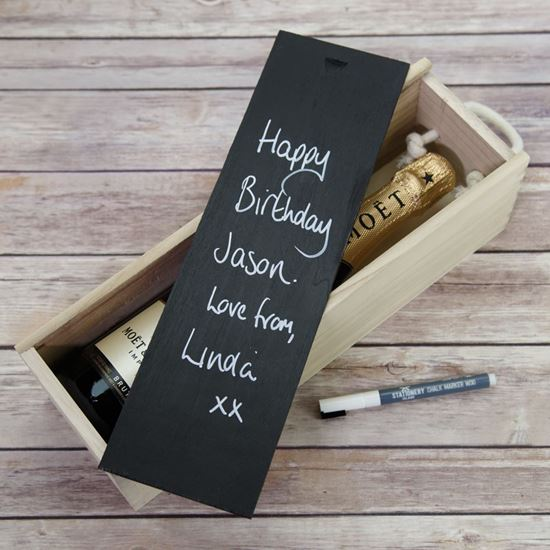 Picture of Chalkboard Wine Box