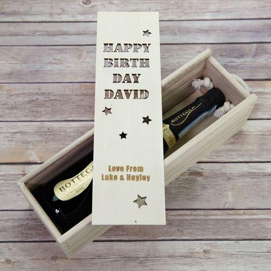 Picture of Birthday Sliding Wine Box