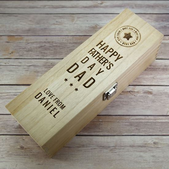 Picture of Father's Day Wooden Wine Box