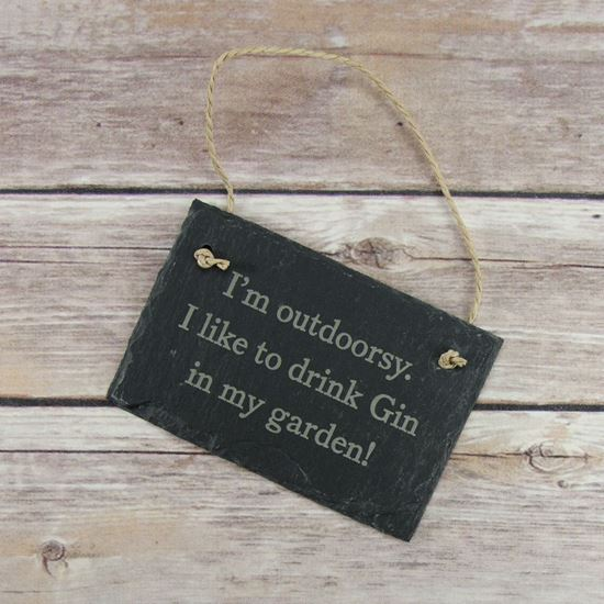 Picture of Outdoorsy Slate Sign