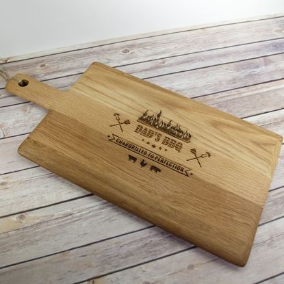 Picture of Solid Oak Personalised BBQ Paddle Board