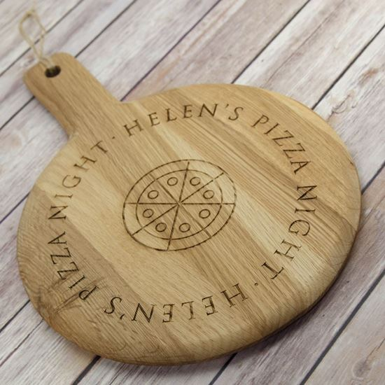 Picture of Solid Oak Personalised Pizza Board