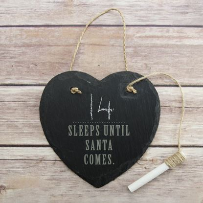 Picture of Sleeps Until Christmas Slate Sign