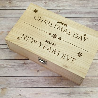 Picture of Christmas/New Year Double Wooden Wine Box