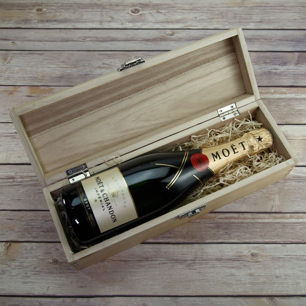 picture of happy christmas wooden wine box