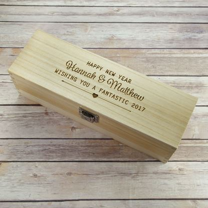 Picture of New Year Wooden Wine Box
