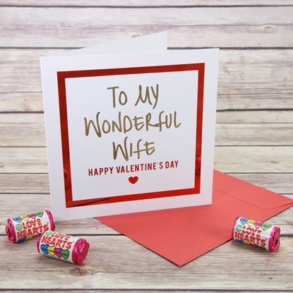 Picture of Wonderful Wife Valentine's Card