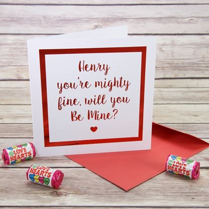 Picture of Mighty Fine Valentine's Card