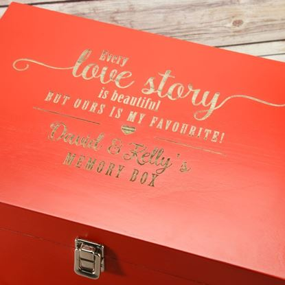 Picture of Red Wooden Memory Box