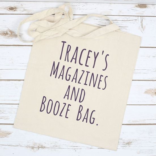 Picture of Magazine and Booze Tote Bag