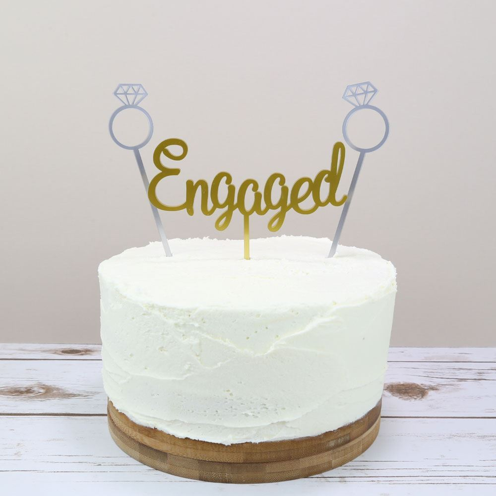 Happy Engagement Day Cake