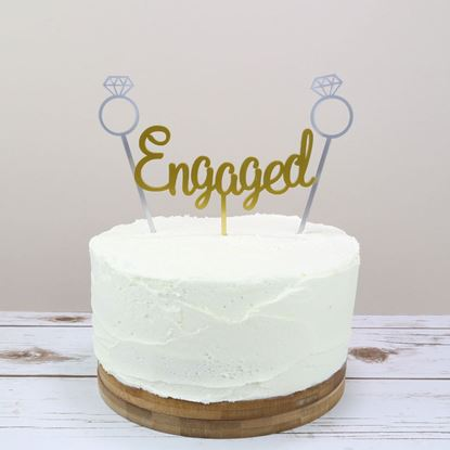 Picture of Engagement Cake Topper