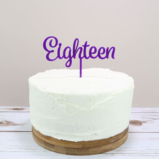 Picture of Written Number Cake Topper