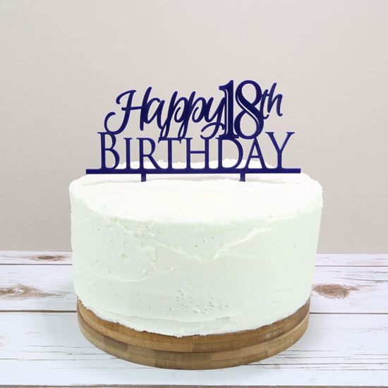 Picture of Birthday Age Cake Topper