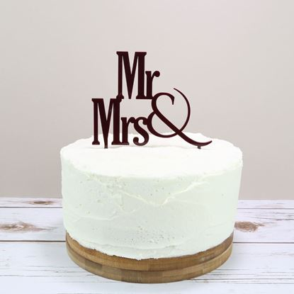 Picture of Mr & Mrs Cake Topper