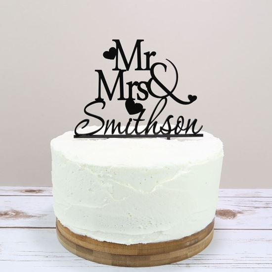 Picture of Personalised Wedding Cake Topper