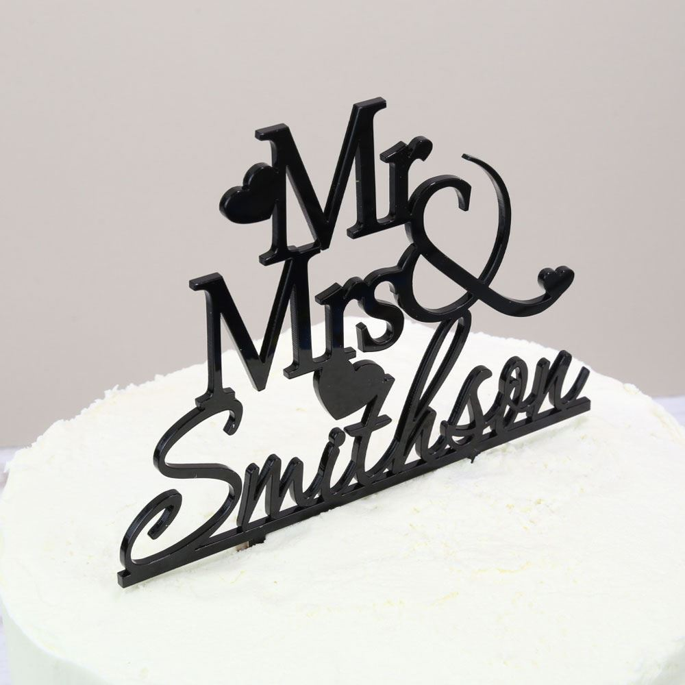 Personalised Wedding Cake Topper - Prezzely