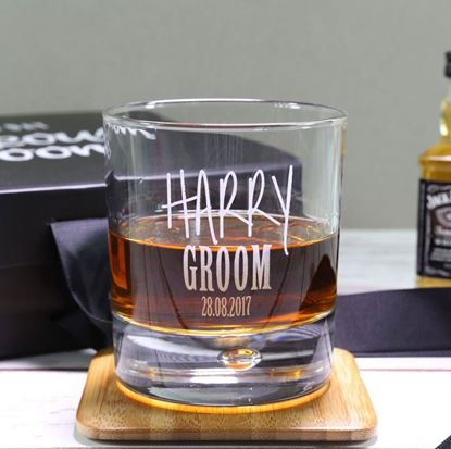 Picture of Personalised Grooms Glass