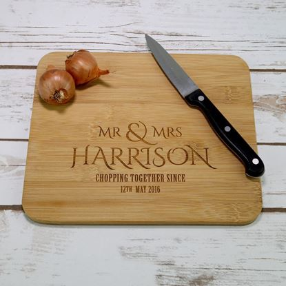 Picture of Mr & Mrs Mini Chopping Board
