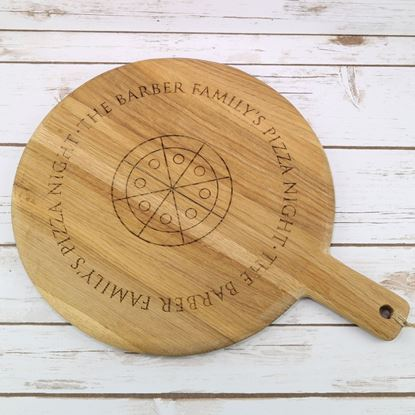 Picture of Solid Oak Family Pizza Board