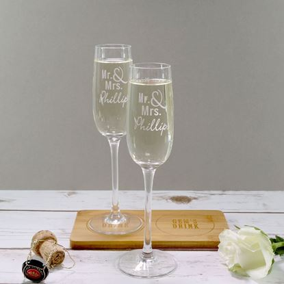 Picture of Pair of Mr & Mrs Bubbly Glasses