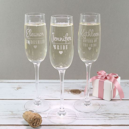 Picture of Wedding Party Prosecco Glass
