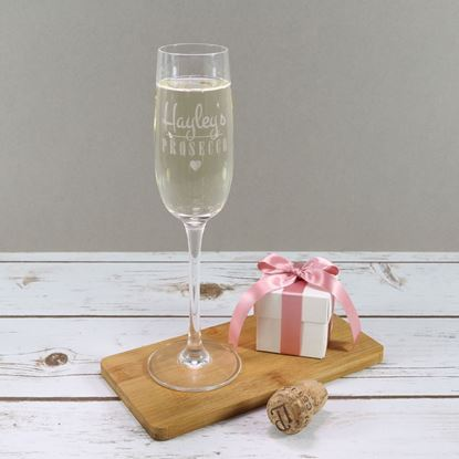 Picture of Personalised Heart Prosecco Glass