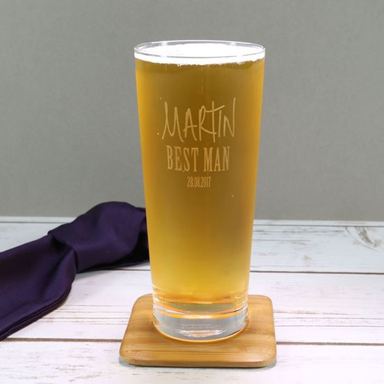 Picture of Personalised Best Man Pint Glass
