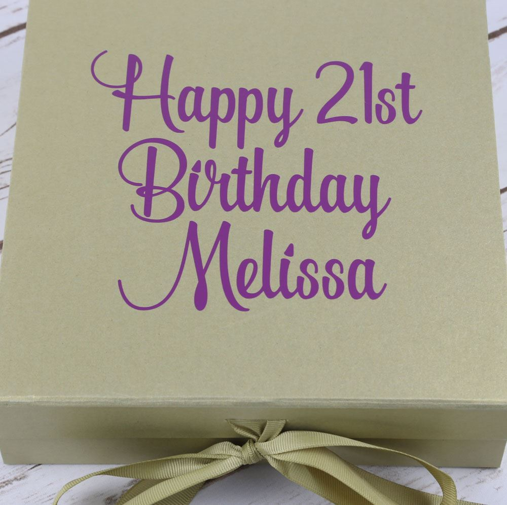 Picture Of Personalised Birthday Gift Box