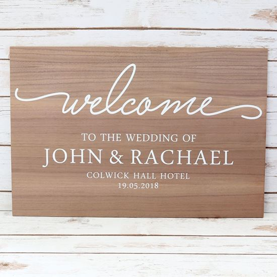 Picture of Welcome Wedding Sign