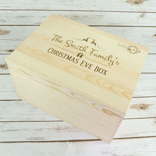 Picture of Large Wooden Chest Christmas Eve Box