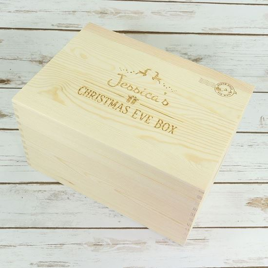 Picture of Small Wooden Chest Christmas Eve Box