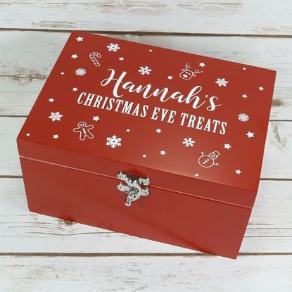 Picture of Small Luxury Red Wooden Christmas Eve Box