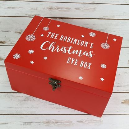 Picture of Large Luxury Red Wooden Christmas Eve Box