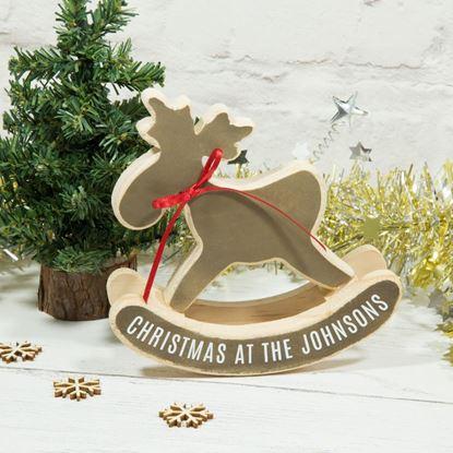 Personalised Rocking Reindeer