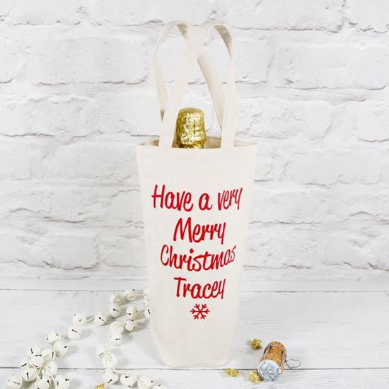 Personalised Christmas Bottle Bag