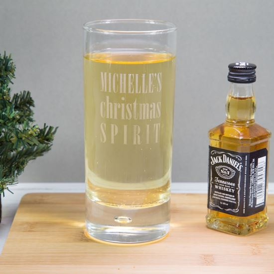 Personalised Christmas Spirit Glass