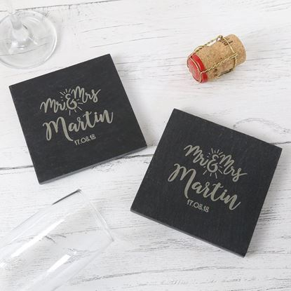 Picture of Mr & Mrs Slate Coasters