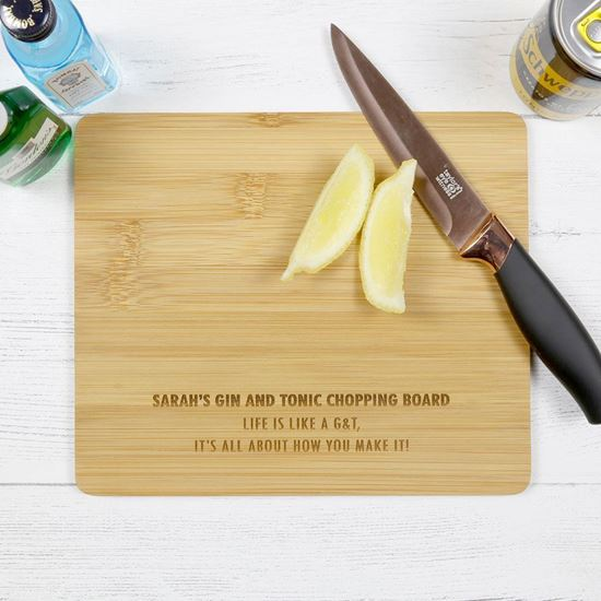 Picture of Personalised G&T Chopping Board
