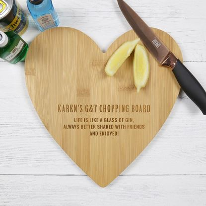Picture of Heart Shaped Gin Chopping Board