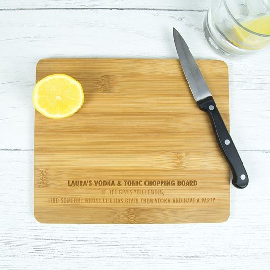 Picture of Personalised Vodka Chopping Board