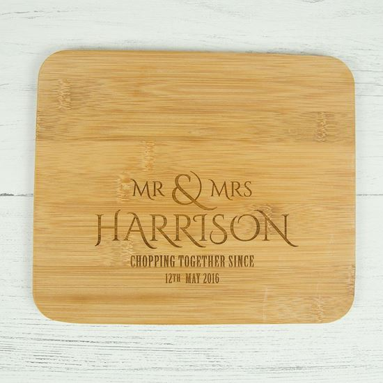 Picture of Mr & Mrs Mini Chopping Board