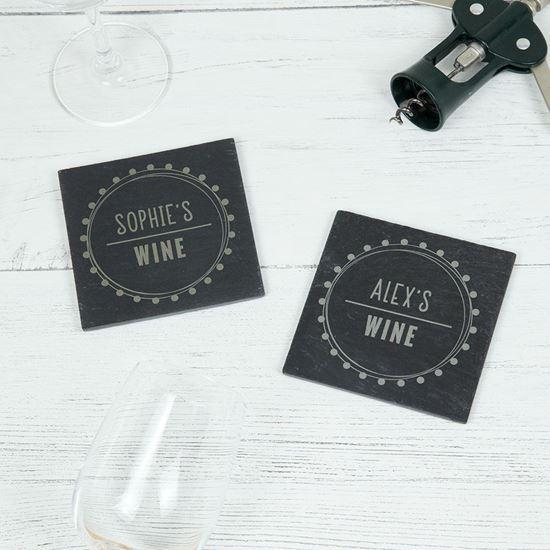 Picture of Swirl Boarder Slate Coasters