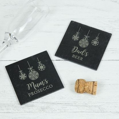 Picture of Christmas Slate Coaster