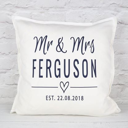 Picture of Mr & Mrs Cushion